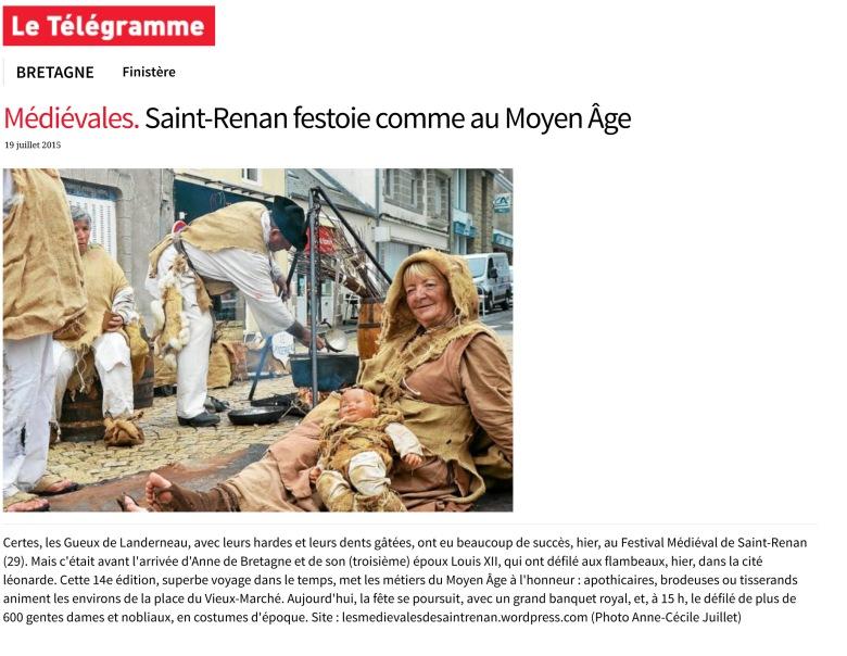 MŽdiŽvales. Saint-Renan festoie comme au Moyen åge - Finistre -